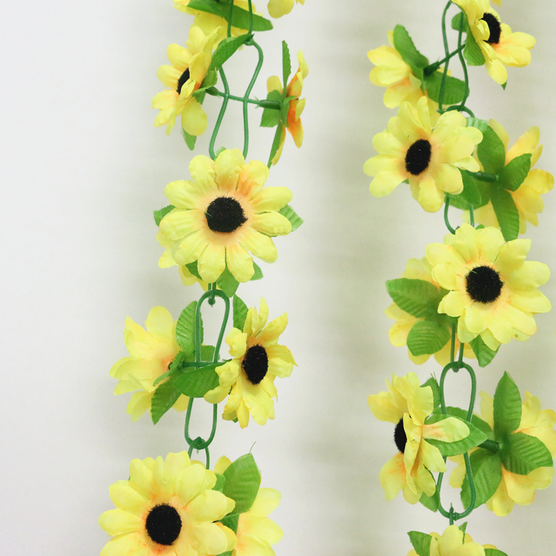 artificial flowers simulation flower cane wholesale Sunflower cane Sunflower cane home flowers decoration (5)