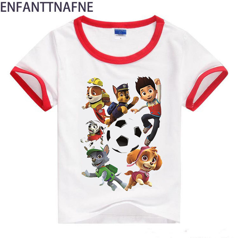 Boys T Shirts Baby for Children Dog Cotton Summer 2017 3D T Shirts for Girl Kids Clothes Short Sleeve Girls Top Tees 12M-8T boys cotton clothes sets for children summer outfit kids camouflage t shirts