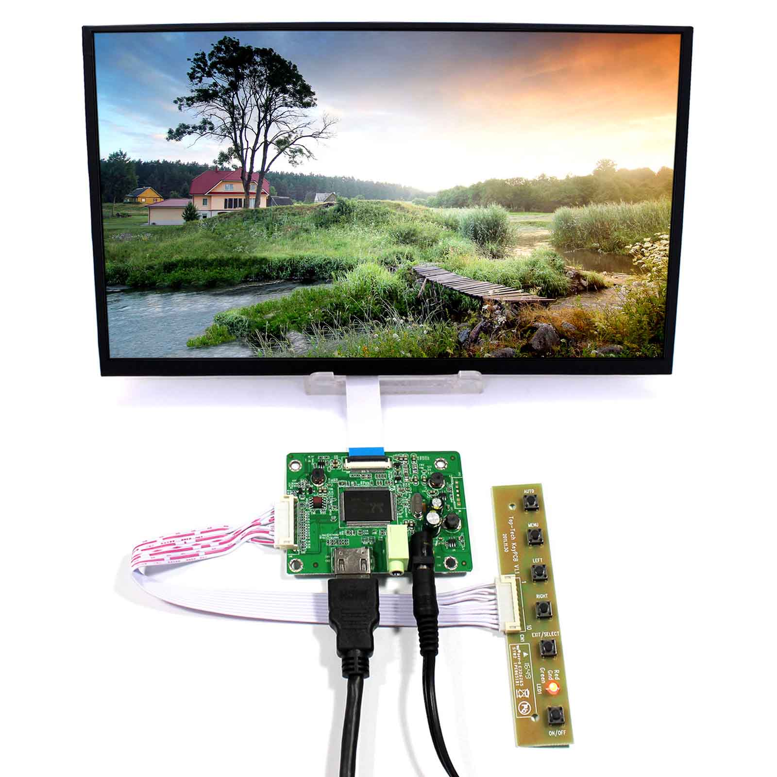 HDMI <font><b>LCD</b></font> Controller Board With 11.6inch 1920x1080 M116X40 IPS <font><b>30Pin</b></font> <font><b>LCD</b></font> <font><b>Screen</b></font> image