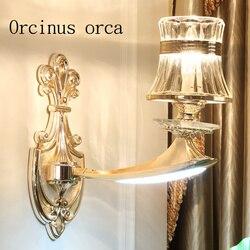 Europejski stopu cynku kryształowe ściany lampy proste nowoczesne sypialnia salon lampa do jadalni darmowa wysyłka