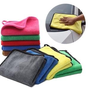 Image 2 - Car Care Polijsten Wassen Handdoeken Pluche Microfiber Wassen Drogen Handdoek Sterke Dikke Pluche Polyester Fiber Car Cleaning Doek Droog