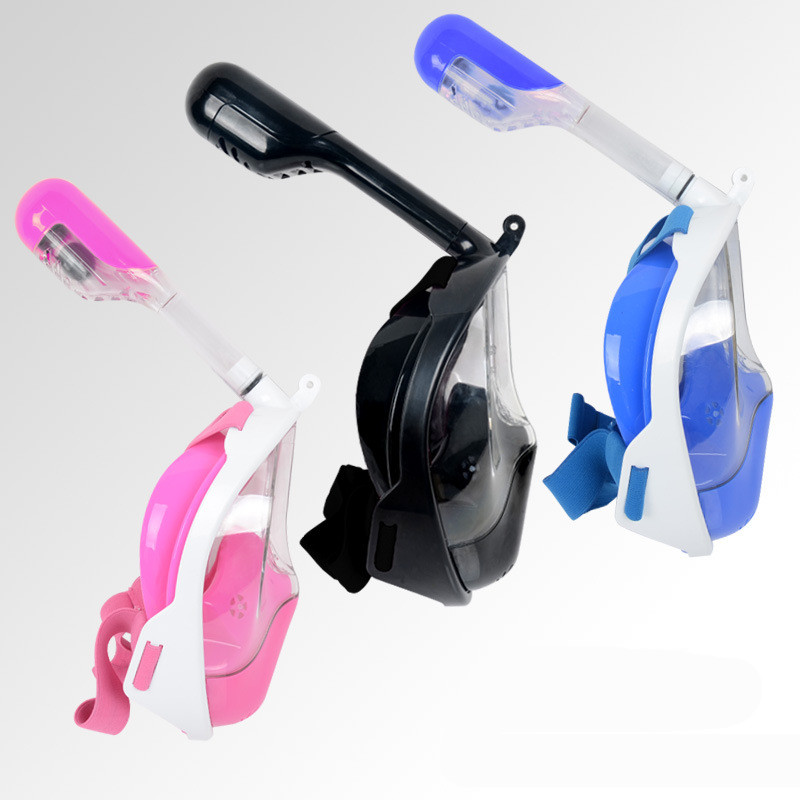 Anti Fog Full Face Snorkeling Mask Diving Snorkel 2 In 1 For Gopro 180 Degree Dry Easy Free Breath Dive Gear Tube pyramex venture gear pagosa sw518t anti fog