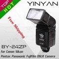Universal hot shoe flash yinyan by-24zp luz flash speedlite para canon nikon sony pentax olympus dslr camera frete grátis