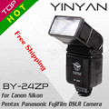 YINYAN BY-24ZP Universal Hot Shoe Flash Light Speedlight Speedlite for Canon Nikon SONY Pentax Olympus DSLR Camera free shipping