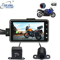 Relee Motorcycle DVR 3.0 inch Car camera with DVR holder Vehicle blackbox dvr dual lens Dash Cameras for Motorcycle car DVR