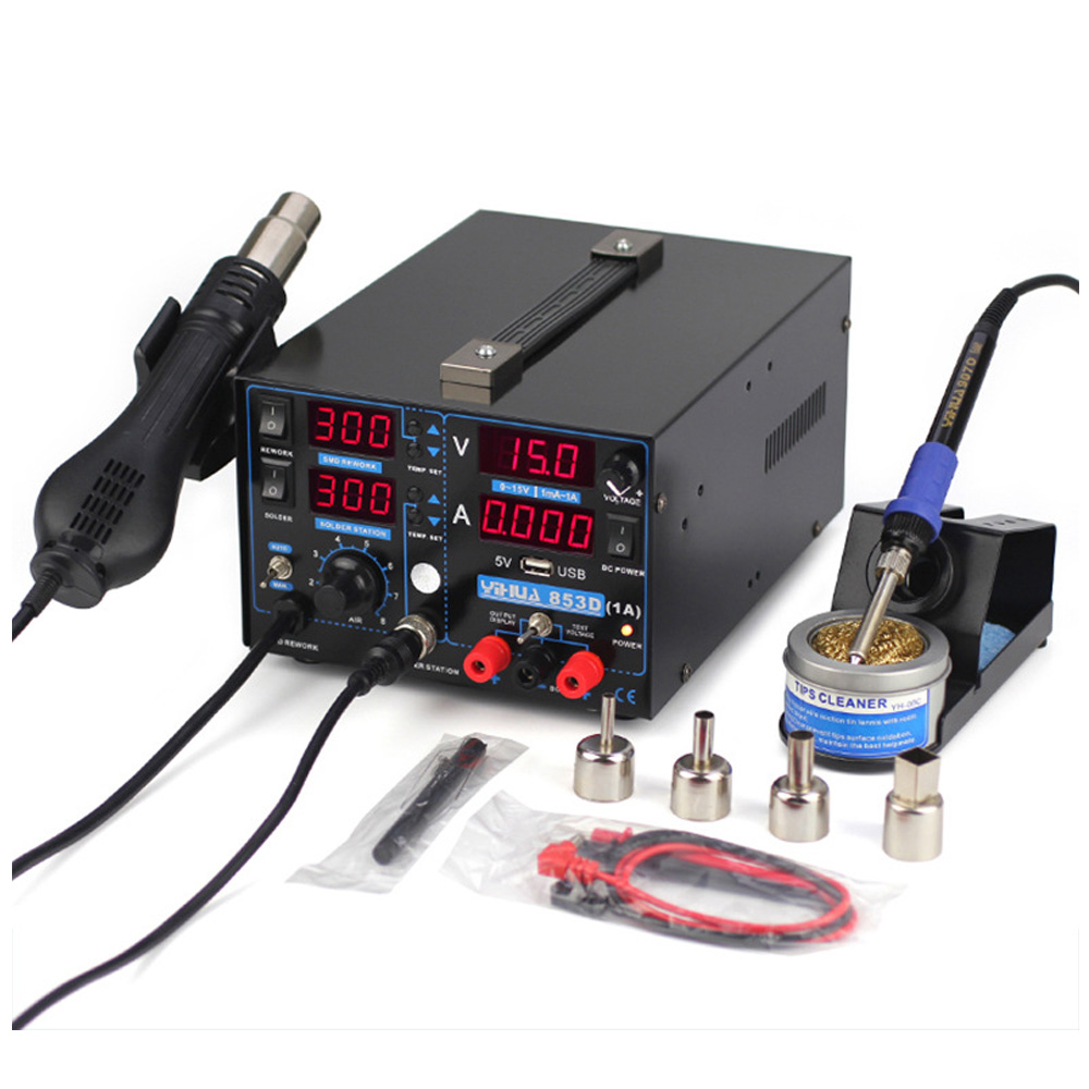 15V 1A Digital Display Heat Gun Triad Electric Blower Hot Air Gun Soldering Iron  USB SMD DC Power Supply Rework Solder Station15V 1A Digital Display Heat Gun Triad Electric Blower Hot Air Gun Soldering Iron  USB SMD DC Power Supply Rework Solder Station