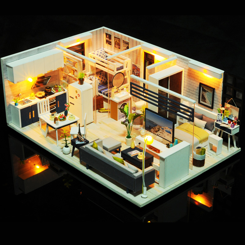 Diy Doll House For Girl & Boy Diy Dollhouses Miniature Kids Diy Craft Wooden Toys For Children Grownups Birthday Christmas Gift diy diy