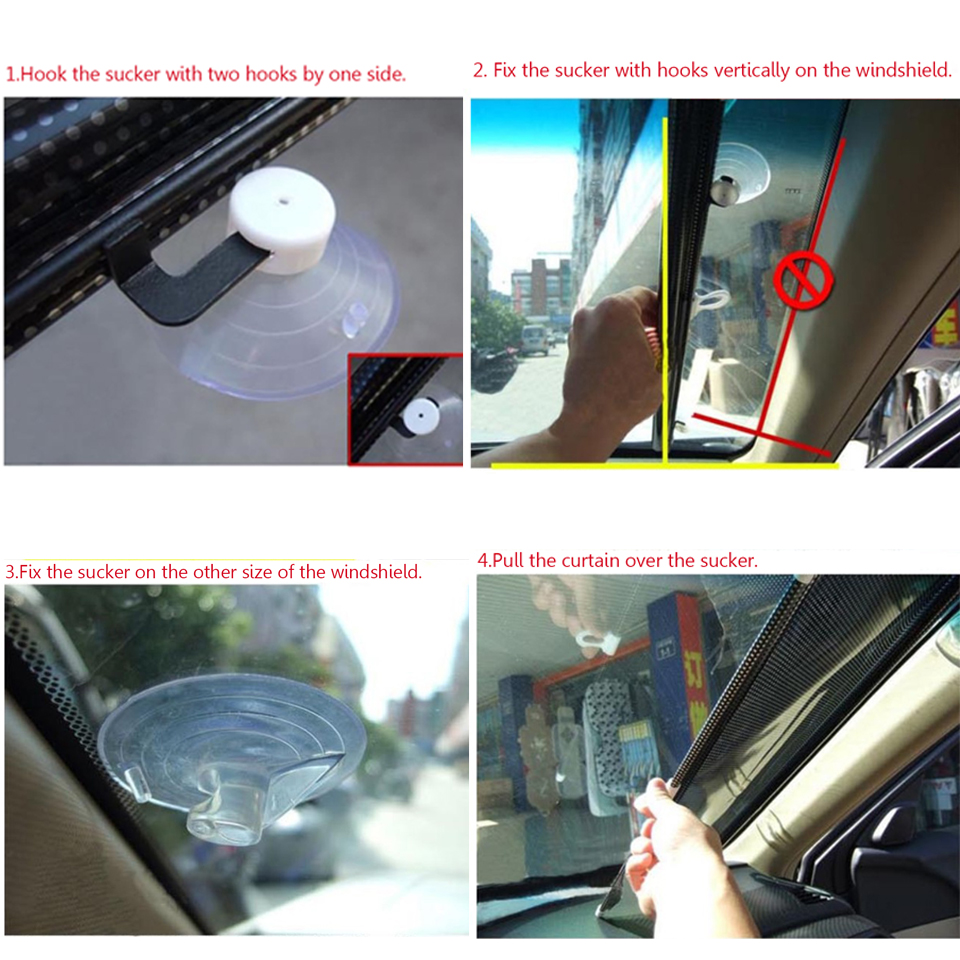 Car Sunshade Curtain Rear Side Window Front Back Windshield Sun Block Blinks Black Cover Suction Cup Universal Cars Accessories in Side Window Sunshades from Automobiles Motorcycles