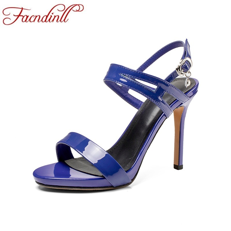 FACNDINLL 2018 summer low women shoes thin high heels women buckle fretwork sexy open toe leather sandals ladies wedding shoes facndinll genuine leather sandals for