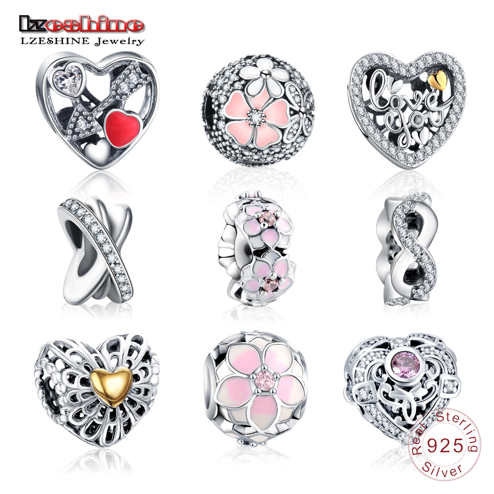 LZESHINE Charms Bead With 100% Authentic 925 Sterling Silver Beads Charms Fit Original Pandora Charm Bracelet Women Jewelry