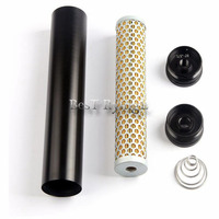 AA NEW LOW PROFILE For 4003 24003 BILLET ALUMINUM FUEL FILTER 1/2 28 1/2