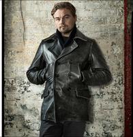 Бесплатная shipping.2017 новый бренд человек толще винтажные кожаные длинные куртки мужские из натуральной кожи байкерская куртка slim. Осенняя мо