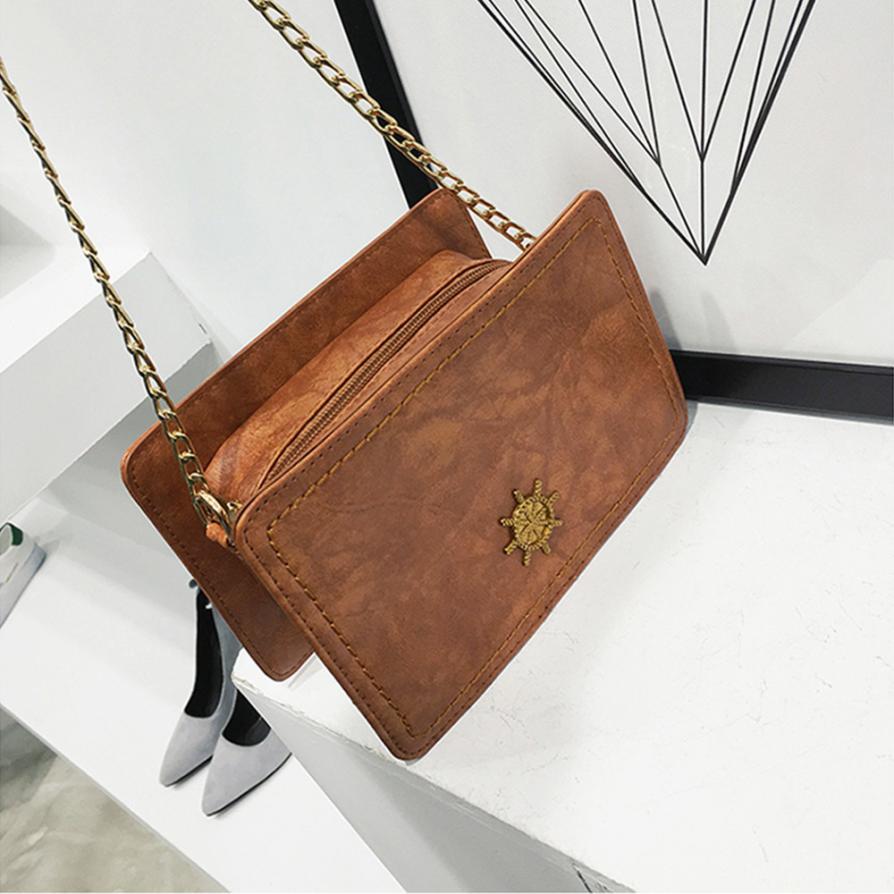 Женская Мода Руль украшения в форме цепи плечо сумка Для женщин Сплошной Цвет молния сумки небольшой вечерние сумка # F