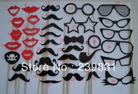 Set Of 38 Mustache On A Stick Wedding Party Photo Booth Props Photobooth Masks Bridesmaid Gifts