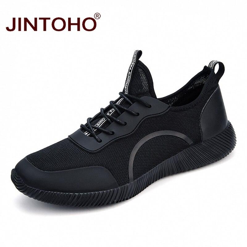 Jintoho/большой Размеры унисекс Летняя мода Повседневное Мужская обувь Обувь с дышащей сеткой мужской Обувь Брендовые мужские кроссовки 9908 дешевые Спортивная обувь Обувь
