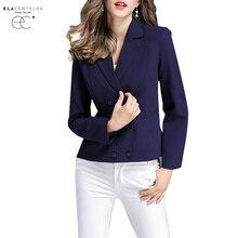 Mulheres Blazers Moda Barroca ElaCentelha Designer Blazer Revestimento das Mulheres Double Breasted Blazer Outerwear