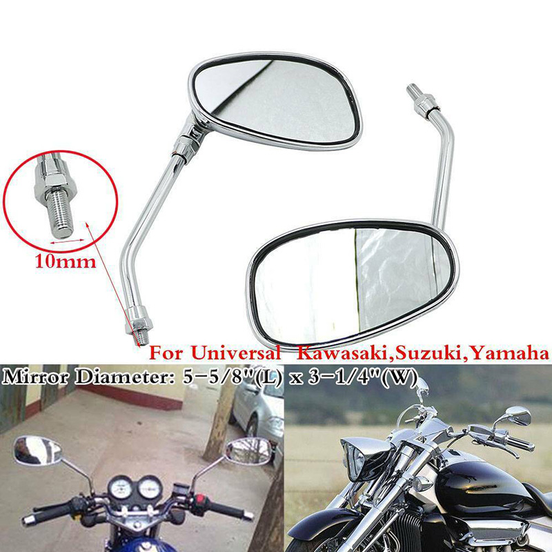 ACE 750 VT750C 10MM Motorcycle Rearview Side Mirrors For Honda Shadow Aero 750