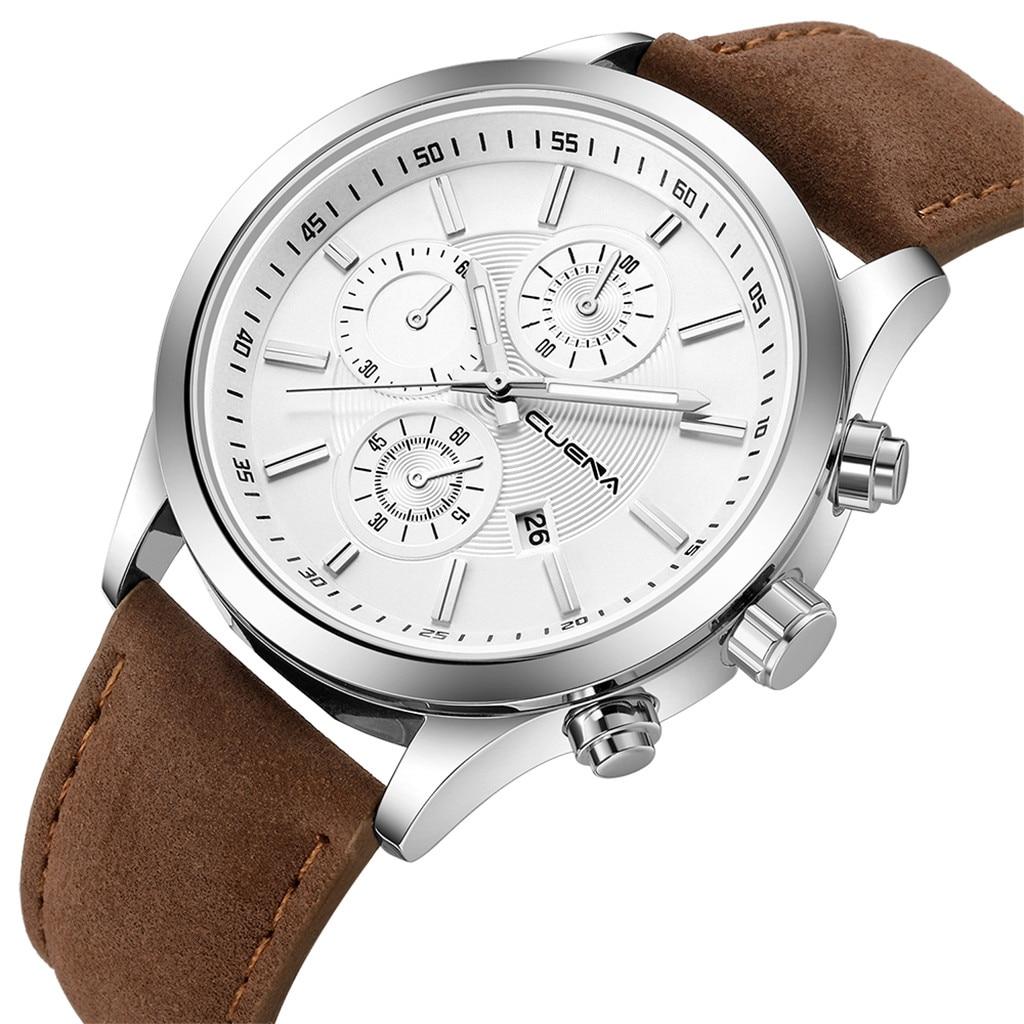 Fashion mens watches top brand luxury business sport quartz wrist watch leather watchband women watches ladies dress clock USPS