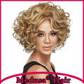 Medusa hair products: Modern Synthetic african american lace front wigs Medium length curly blonde bob wig Peruca loira SW0492B