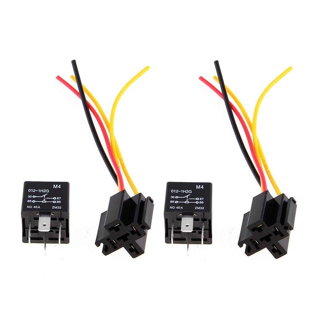 2 X Car Relay Automotive 12v 40a 4 Pin Wire With 5 Outlets New In Terminals From Home Improvement On Alibaba Group