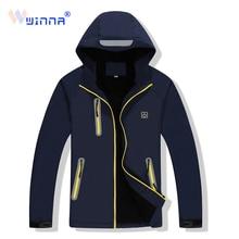 цены на 2019 NEW Heated Jacket Outdoor Hiking Camping Jacket Windproof Waterproof Thermal  Softshell Women Men Sport Cloths Size M-XXXXL  в интернет-магазинах