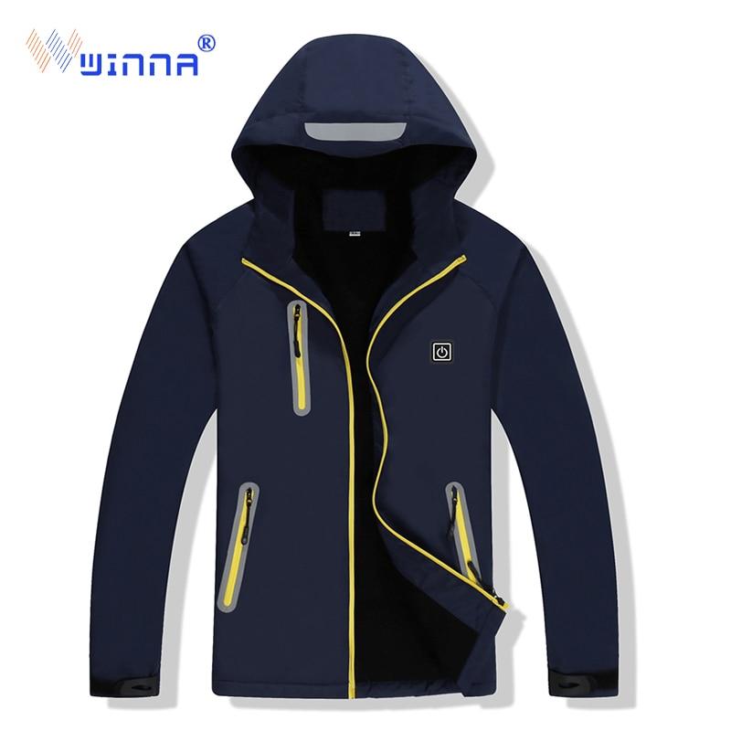 2019 nouvelle veste chauffante en plein air randonnée Camping veste coupe-vent imperméable thermique Softshell femmes hommes Sport chiffons taille M-XXXXL