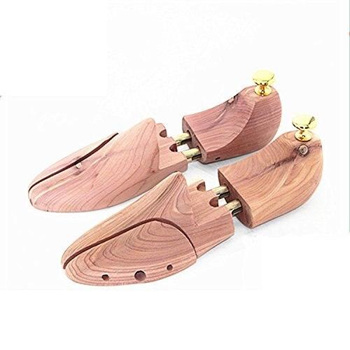 SCYL 1 Pair Wooden Shoe Tree Stretcher Shaper Keeper Adjustable Width Wooden Shoe Tree Stretcher Shaper