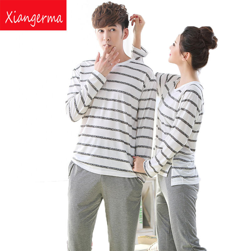 Spring and Autumn Youth Men Pajama Hedging casual Sets man Long-Sleeve O-Neck Printing Lounge Sleep Set modal free shipping ZN
