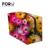 Tamaño grande mujeres compone bolsos flor Floral Zipper caso cosmético Simple organizador señora de la muchacha de la bolsa de almacenamiento bolsa cosmética