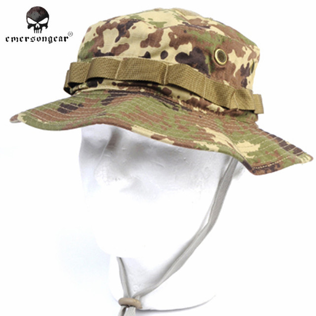 6976a6a3ee5 EMERSON Bonnie Hat Camouflage Hat Military Tactical Army Hunting Hat Anti  Scrape Grid Fabric Vegatata Outdoor