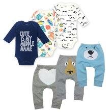6Pieces/Lot Baby boy clothes summer kids sets bodysuit+pants suit Star Printed Clothes newborn sport suits babys Sets