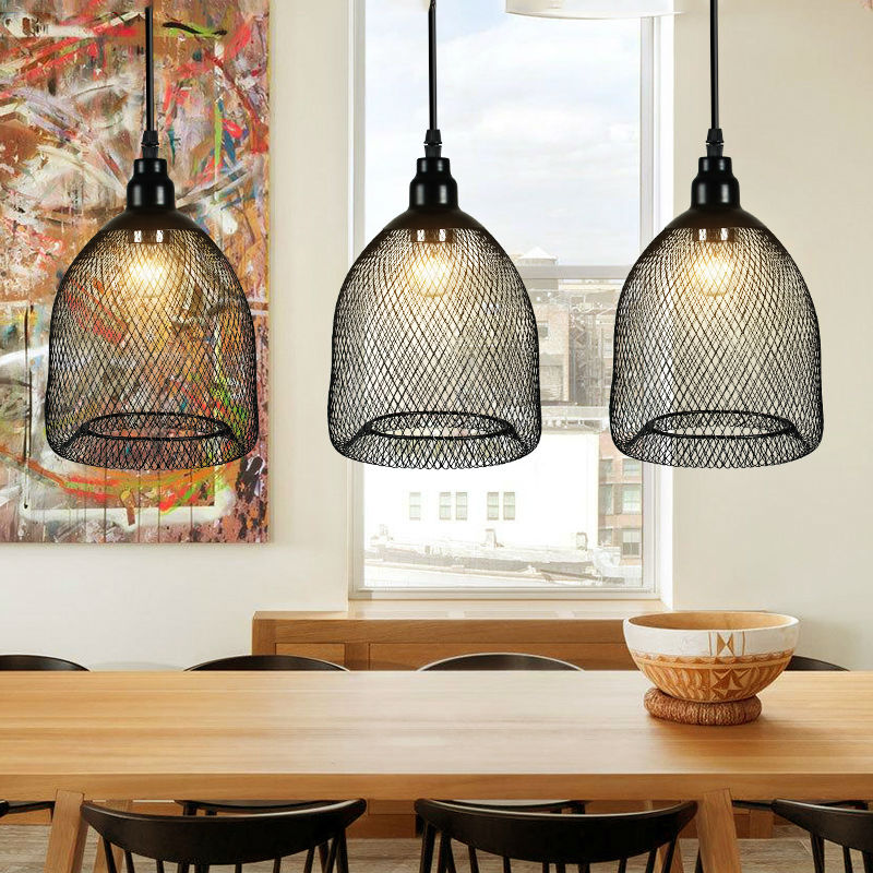 Industrial Light Fixtures Black Iron Lampshade Vintage Dining Kitchen Light Room Deco 1 Free Bulb