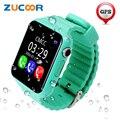 Elegante Reloj de Pulsera de Kid Niños Seguros anti-perdida GPS Perseguidor Ubicación cámara SOS Llamada Smartwatch V7K Niño Para iOS Android Bebé hombres