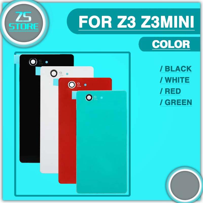 50Pcs Battery Glass Housing replacement For Sony Xperia Z3 L55T / Z3 Compact Z3 mini D5803 Z4 Z3+ Plus Back Cover Door Case