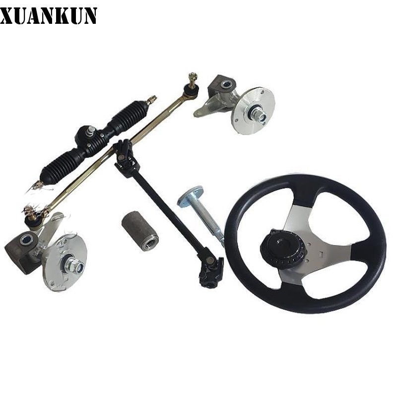 XUANKUN Self-Made Four-Round Karting Accessories Direction Machine Assembly Steering Wheel Rod Universal Joint With Sheep Flange one direction four