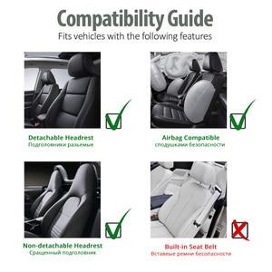 Image 5 - AUTOYOUTH קדמי רכב מושב מכסה אופנה סגנון גבוהה בחזרה דלי רכב כיסוי אוטומטי פנים רכב מושב מגן 2PCS עבור טויוטה