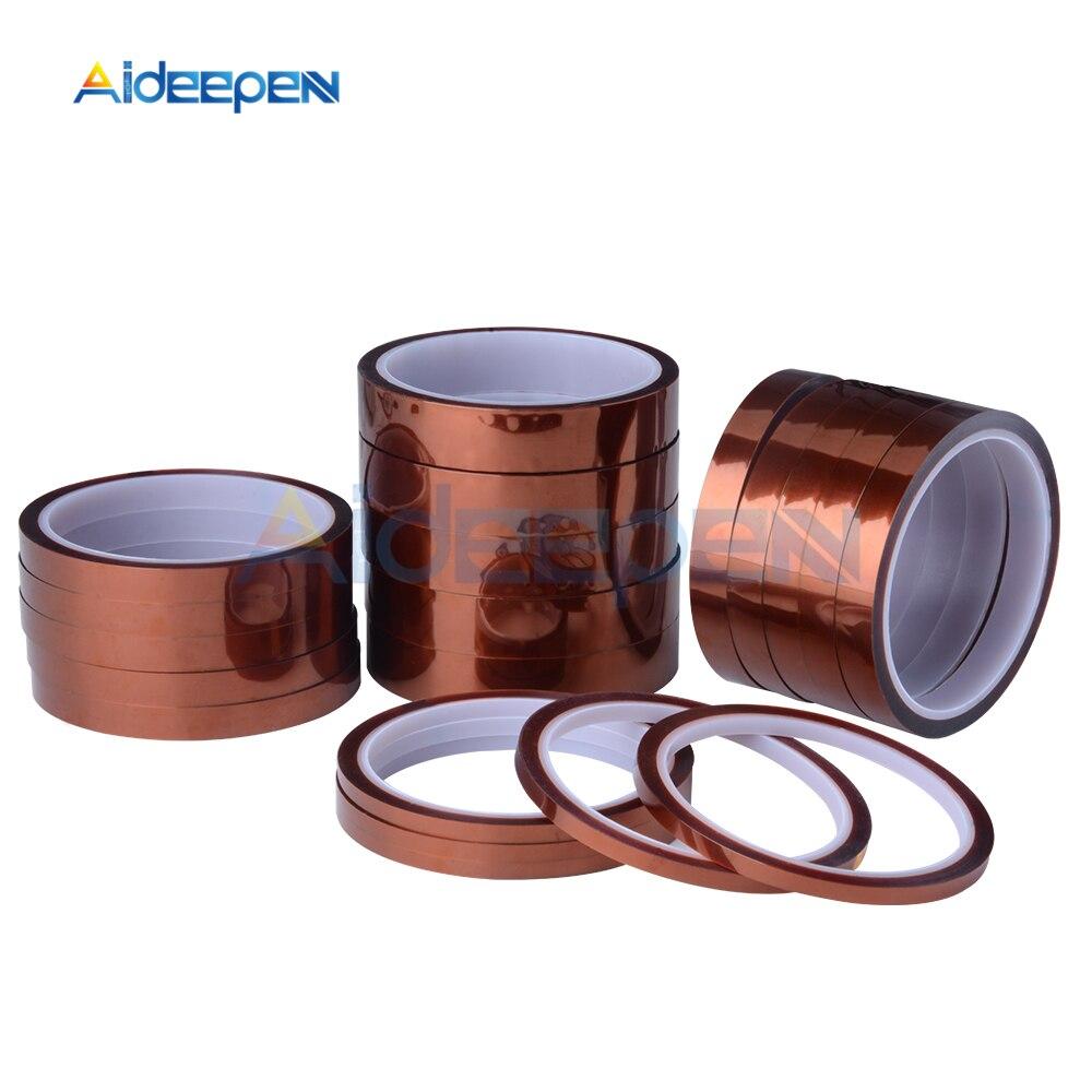 Breite 6//8//10//12//15//20//25//30//40//50mm Länge 30 mt Heat Resistant Polyimid Band Hohe Temperatur Klebstoff Isolierung Kape