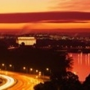 Sunset  Aerial  Washington DC  District Of Columbia  USA Poster Print (36 x 12)