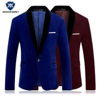 Men Slim Blazer Red Suit Jacke Latest Coat Designs Royal Blue Classic Wedding Suits Men Dress