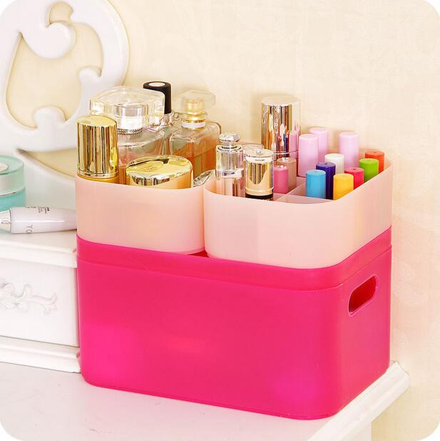 Thickening Plastic Box Storage DIY Desktop Cosmetic Organizer Acrylic Makeup Organizer