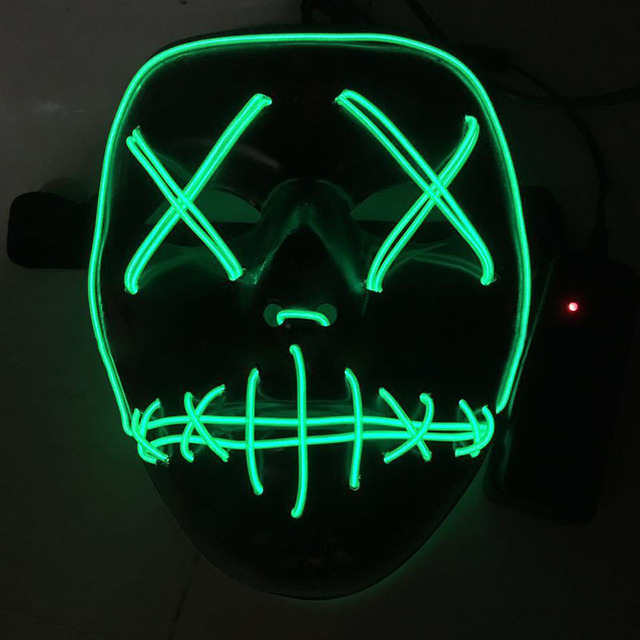 Halloween Mask Wire Light Up Neon Mask LED Light Up Funny Mask from ...