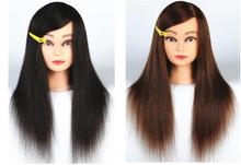 tete a coiffer professionnelle,50CM female hair gift women mannequin makeup practice straight hairdressing head M00625D GIFT