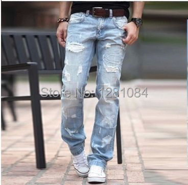 Compare Prices on Ripped Jeans for Men- Online Shopping/Buy Low ...