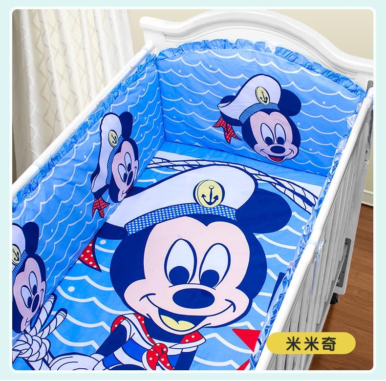 Promotion! 5PCS Cartoon Baby Cot Beds Baby Bedding Set Crib Cradle (4bumper+sheet) promotion 6pcs baby bedding set cot crib bedding set baby bed baby cot sets include 4bumpers sheet pillow