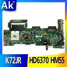AK K72JT материнская плата для ноутбука ASUS K72JR K72JT K72JU K72J K72 Тесты Оригинал материнская плата HD6370 HM55