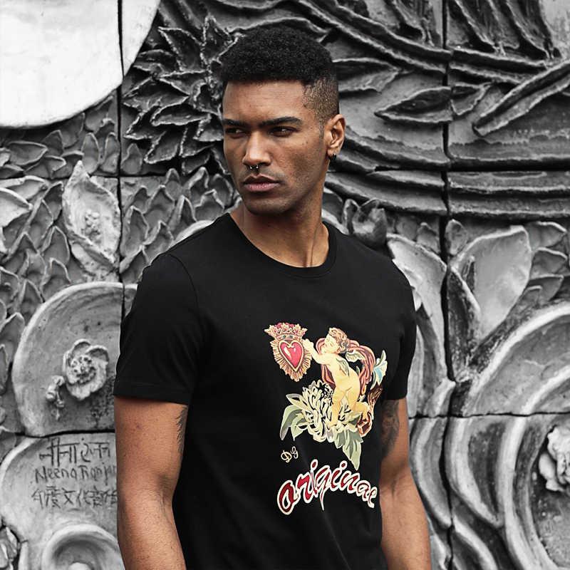 Simwood & Tidak Original 2020 Musim Panas Baru T Kemeja Pria Desain Cetak Street Fashion Tinggi Kualitas Kaos Pria 180265