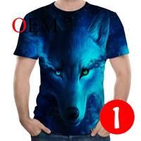 YSB019 Casual Tee shirt 3D Printer Wolf For Men/women Funny Tshirt Short Sleeve Streetwear T shirts Costume Plus
