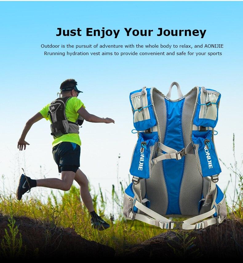 Sac à dos extérieur 12L hydratation bouteille d'eau vessie sac à dos pour randonnée Camping course Marathon sport hommes femmes unisexe