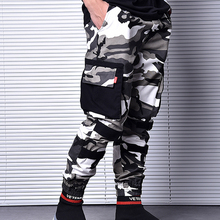 American Street Fashion Joggers Pants Men Japanese Style Big Pocket Cargo Pants homme Camouflage Military Pants