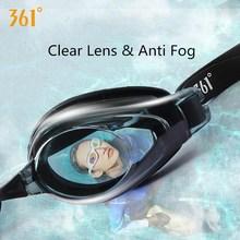 361 Clear Lens Swimming Glasses for Pool Professional Anti Foggy Waterproof Goggles Silicone Women Men Swim Eyewear